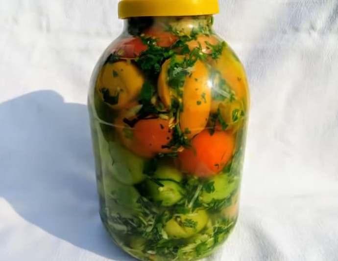 Самый вкусный рецепт зеленых помидоров по-грузински на зиму без стерилизации