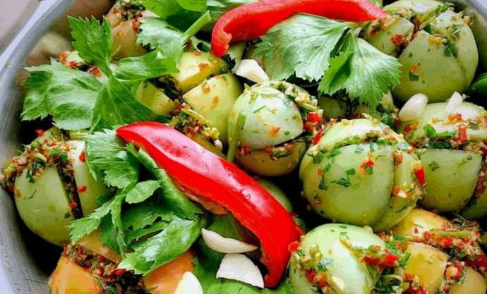 Зеленые помидоры по-грузински на зиму – самые вкусные рецепты зеленых помидор с чесноком