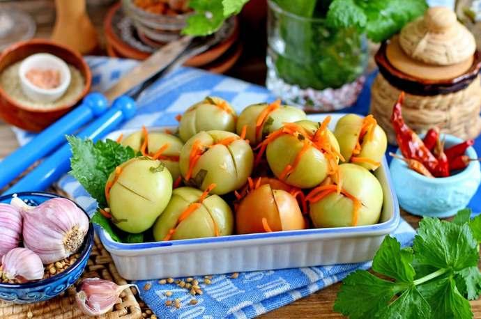 Как вкусно приготовить зеленые помидоры по-грузински на зиму