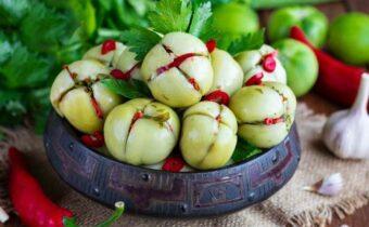 Зеленые помидоры по-грузински на зиму